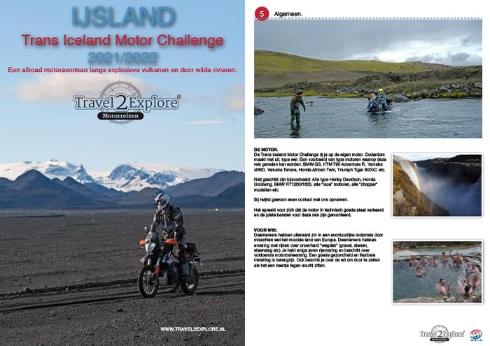Download de brochure van de Trans Iceland Motor Challenge, vulkanen, lava en gletsjerrivieren