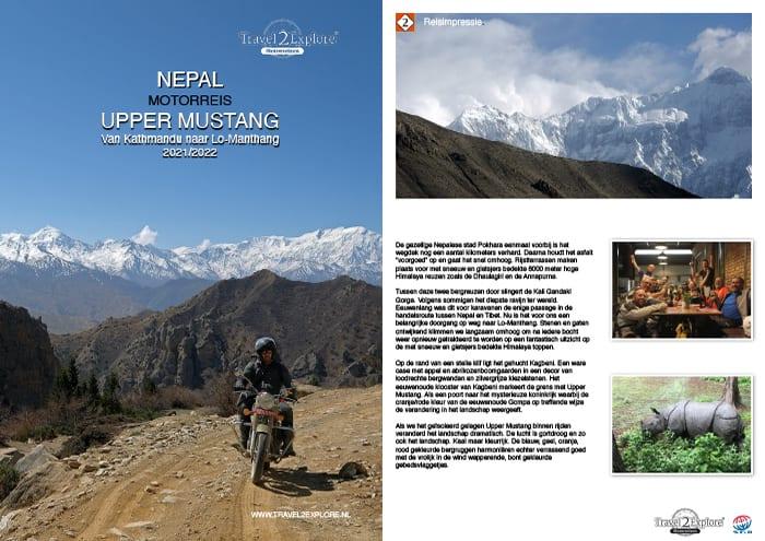 Download de brochure van onze motorreis in Nepal naar het verboden Tibetaanse koninkrijk Upper-Mustang