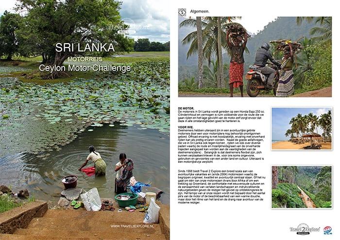 Download brochure van de motorreis in Sri Lanka, de Ceylon Motor Challenge.