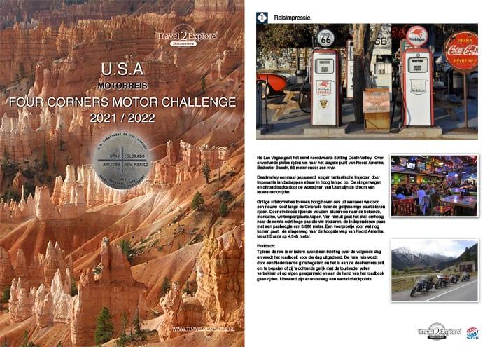 Donload de brochure van de Four Corners Motor Challenge in de USA