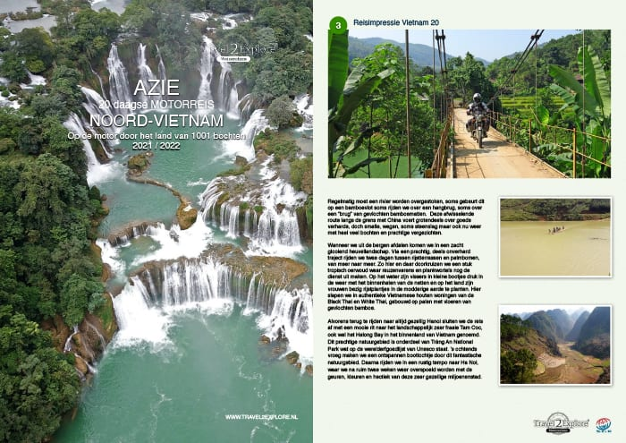 Download de brochure van onze motorreis in Vietnam van Ha Noi naar Sapa via Ban Gioc waterval