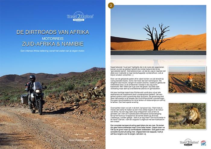 Download de brochure van de dirtroads in Afrika, motorreis door Zuid-Afrika en Namibie