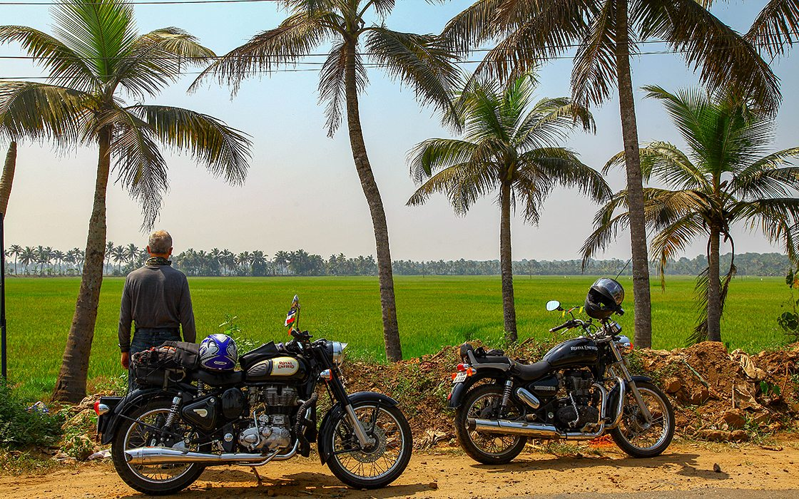 Fotoboek van de motorreis in Zuid-India gereden in januari 2018 van door Travel 2 Explore Motorreizen