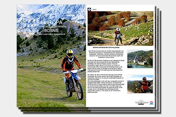 Brochure motorreizen Bosnie van Travel 2 Explore