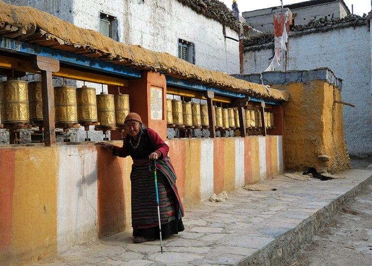 Lo Manthang, Tibetaanse plaats uit de middeleeuwen eindpunt van de avontuurlijke motorreis naar Upper-Mustang in Nepal