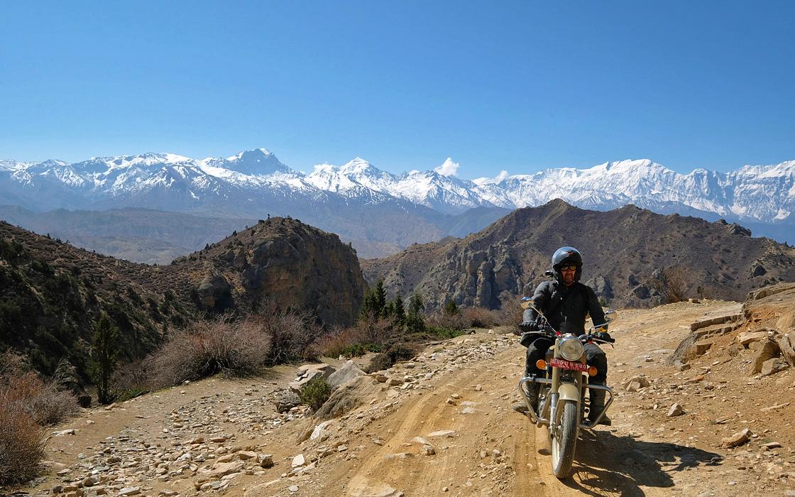 Nepal motoreis naar het verloren Tibetaanse koninkrijk Uppr Mustang in de Himalaya. Een motorreis van Travel 2 Explore motorreizen