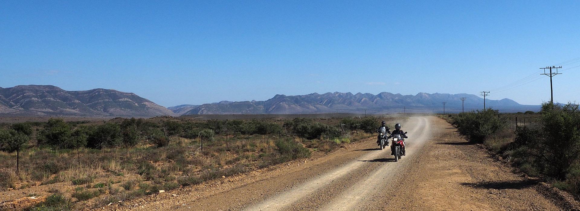 Motorreis Zuid Afrika, Die Hel. Op de motor door de Baviaanskloof, over Naudes nek pass en door Die Hel.