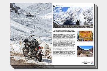 brochure motorreizen Himalaya motorreis van Travel 2 Explore