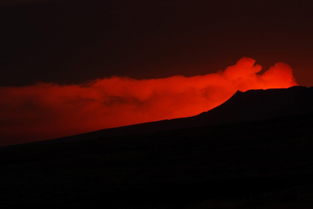 Vulkaanuitbarsting van de Bardarbunga tijdens de motorreis IJsland van Travel 2 Explore