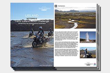 brochure motorreizen IJsland van Travel 2 Explore