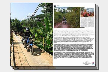 Brochure motorreizen, motorreis Laos en Vietnam van Travel 2 Explore