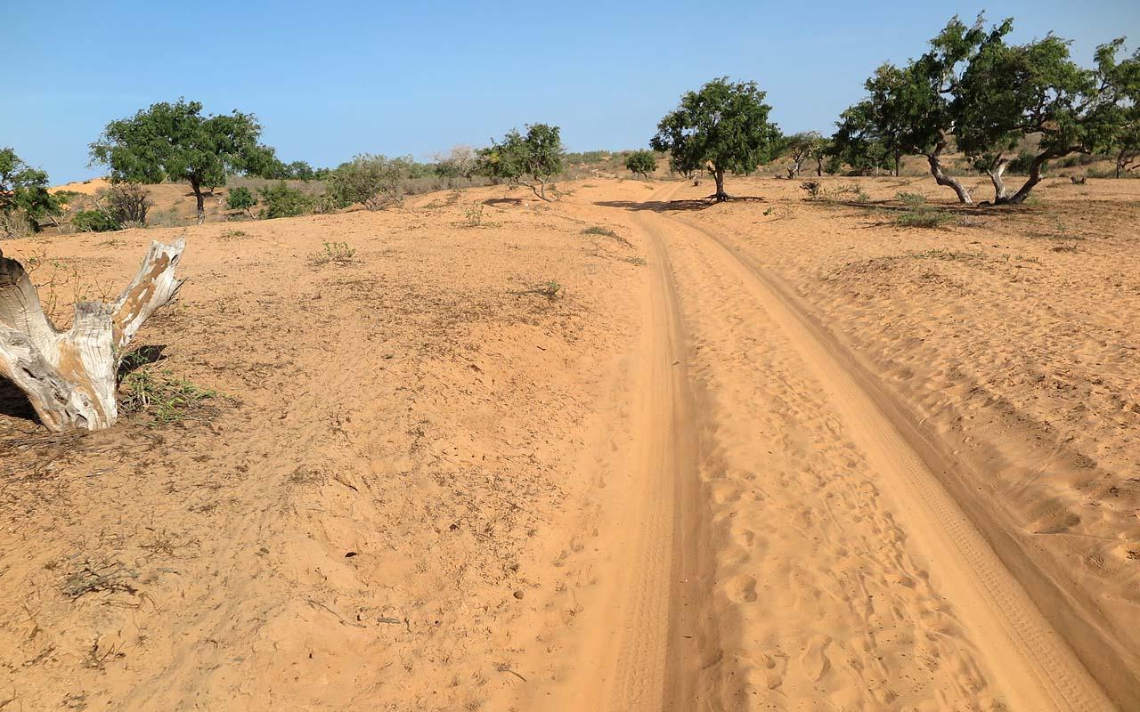 Motorreizen Afrika, Senegal. Een negen daagse offroad motorreis door de Afrikaanse land.