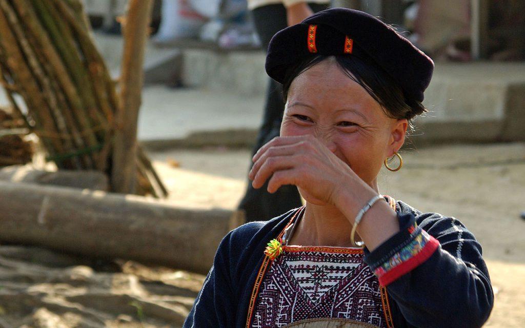 De vriendelijke lokale bevolking van Vietnam