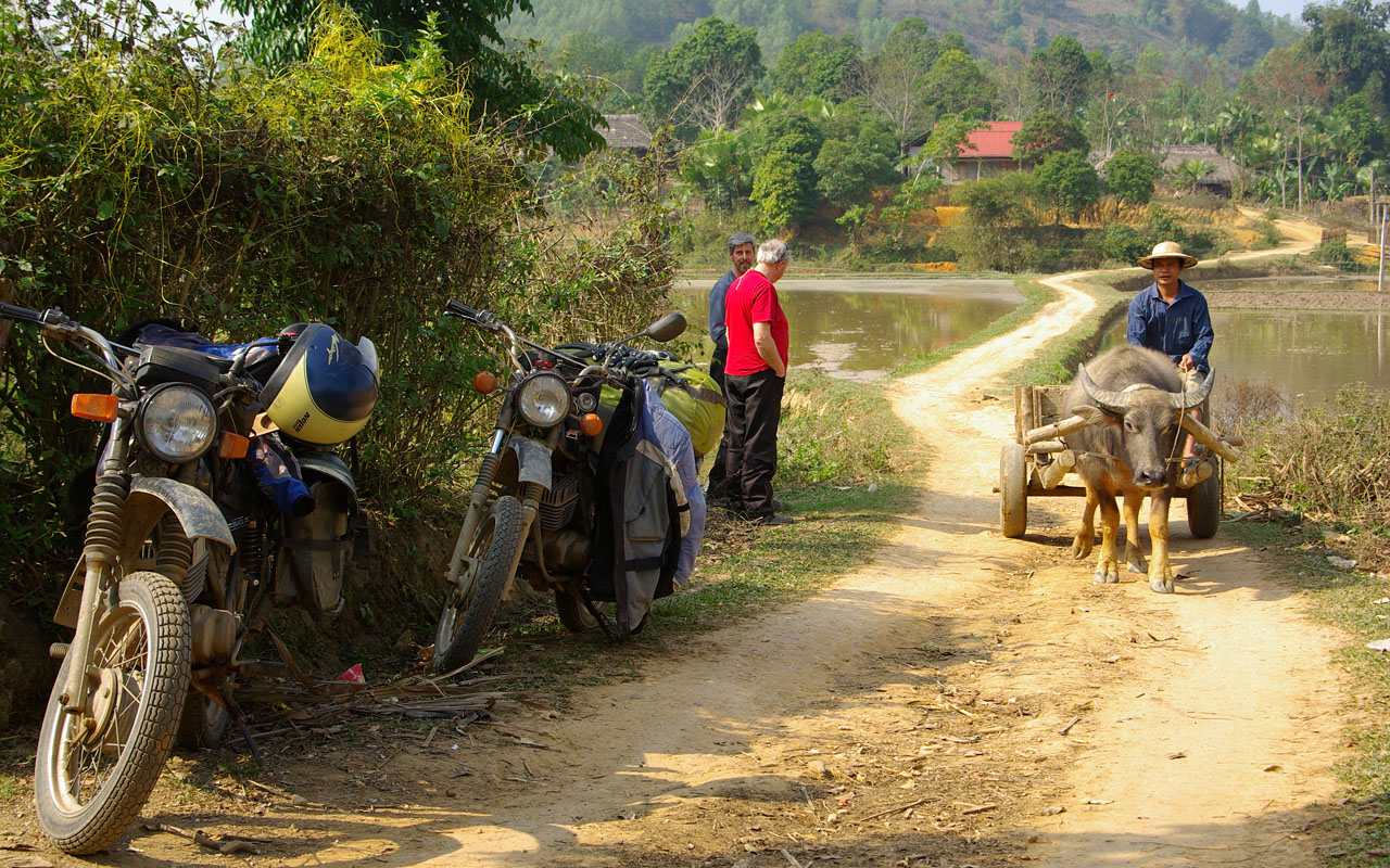 Het platteland van Vietnamtijdens de motorreis door Noord-Vietnam met Travel2Explore