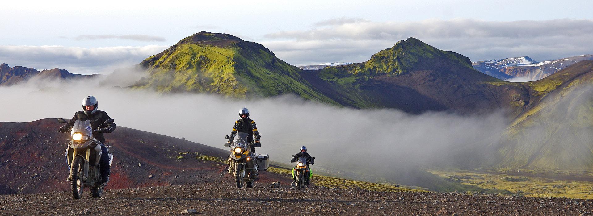 Motorreis IJsland uit het motorreizen programma van Travel 2 Explore. Op de eigen allroad motor over offroad tracks door het binnenland van IJsland