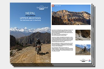 brochure motoreizen, motorreis Zuid-India van Travel 2 Explore