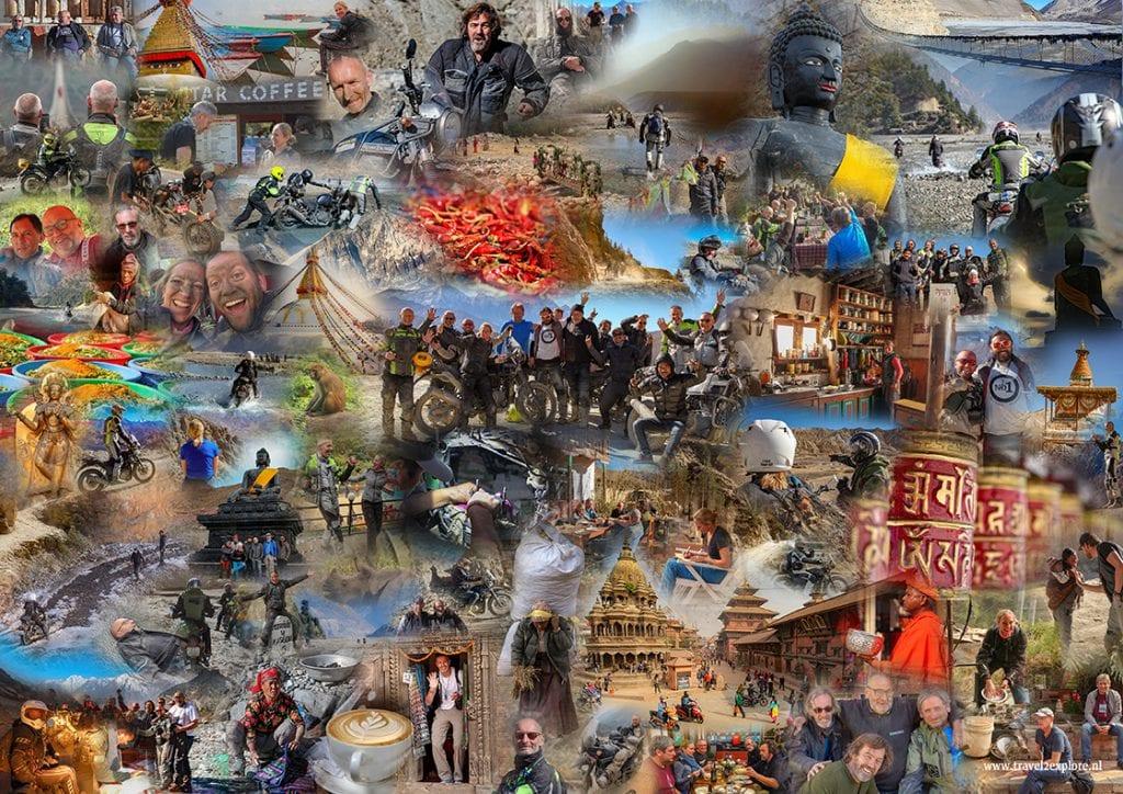 Avontuurlijke motorreis in Nepall door de Himalaya naar en in Upper-Mustang