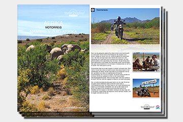brochure motorreizen Namibie en Zuid-Afrika van Travel 2 Explore