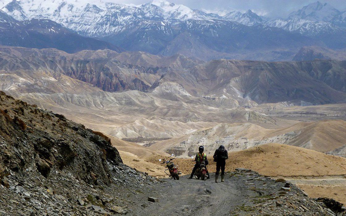 Last minute motorreizen Nepal naar Upper-Mustang vertrek 18 oktober 2021
