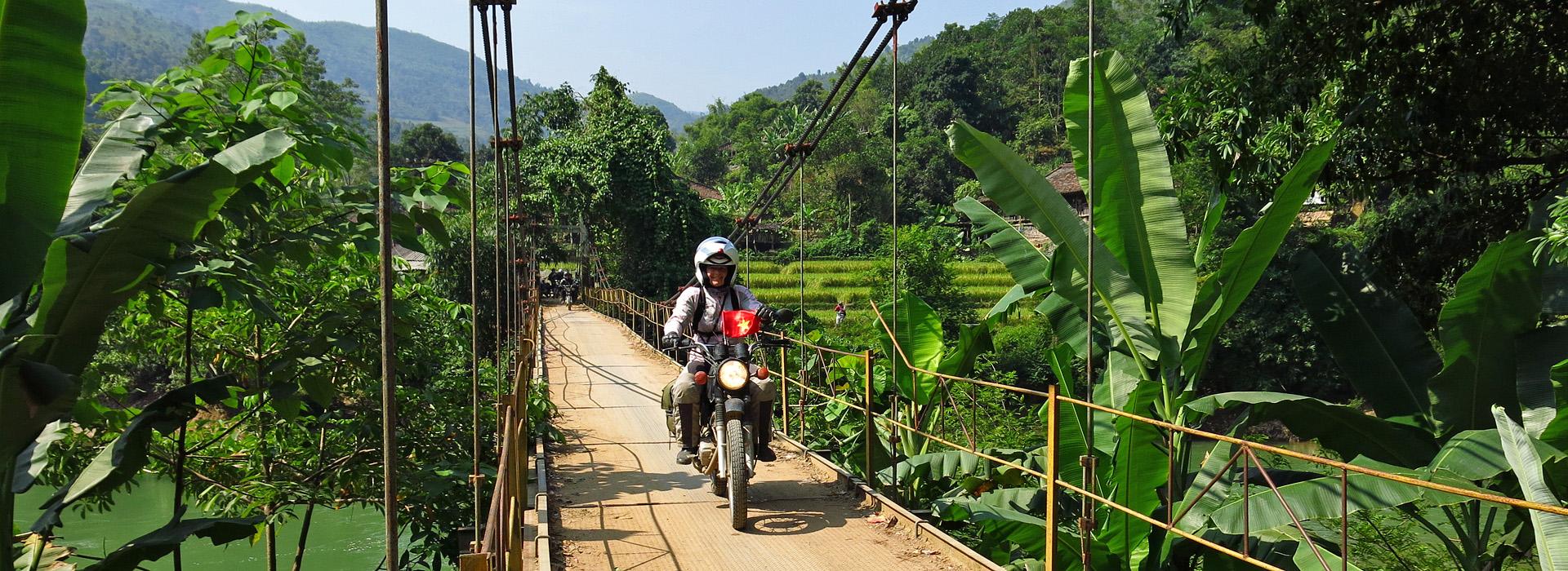 Motorreis Vietnam. Op de motor door het berglandschap van Noord-Vietnam