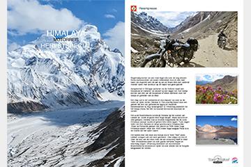 Brochure van de 17 daagse herfstspecial, éénmalige motorreis in de Himalaya van Travel 2 Explore