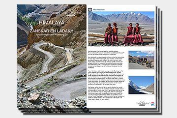 brochure motorreizen Himalaya Zanskar ladakh motorreis van Travel 2 Explore