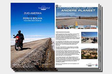 brochure motorreizen Zuid-Amerika door Peru en Bolivia van Travel 2 Explore motorreizen