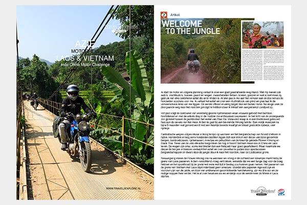 Download de 19 pagina's dikke brochure van de motorreis door laos en Vietnam van Travel 2 Explore Motorreizen