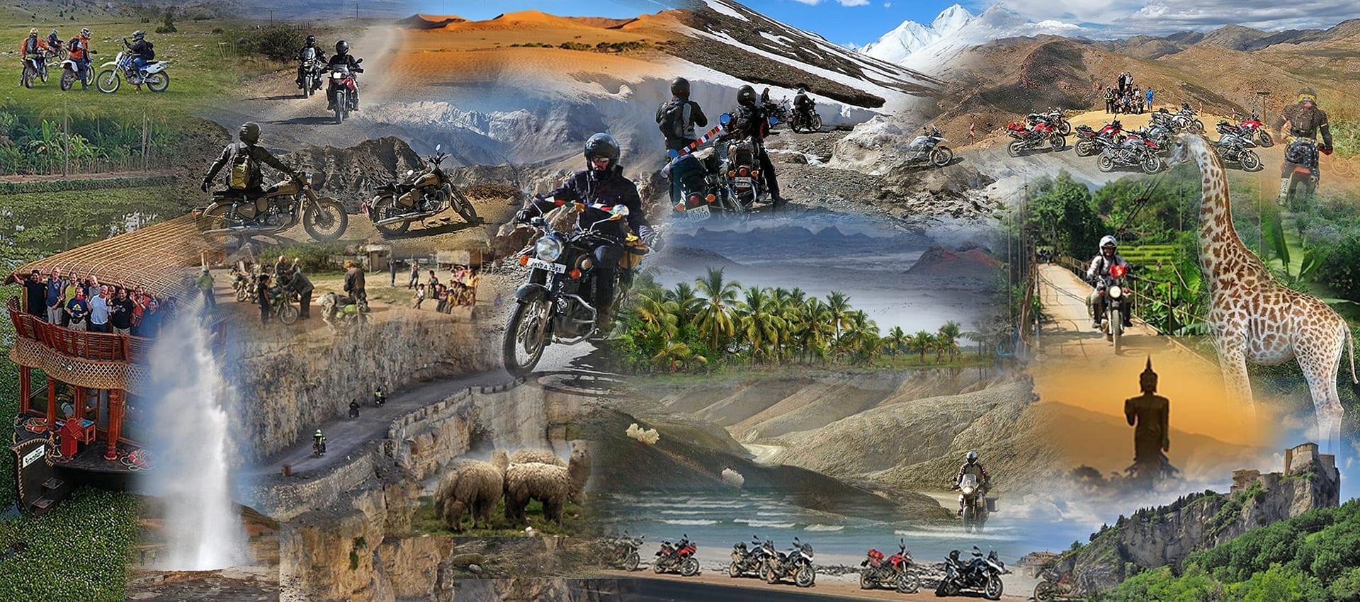 Overzicht van de populaire, meest geboekte motorreizen van Travel 2 Explore